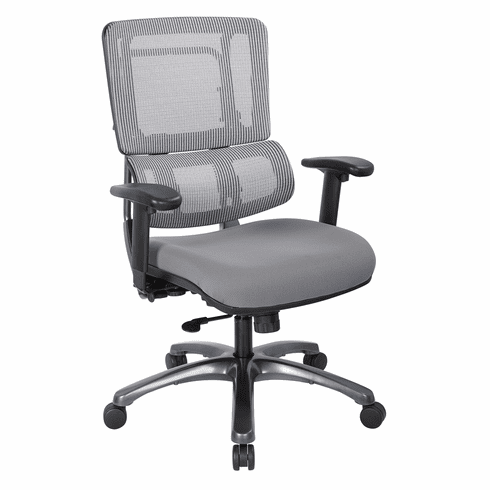 Office Star Pro-Line II™ Vertical Grey Mesh Chair Titanium Base [99667T-5811]