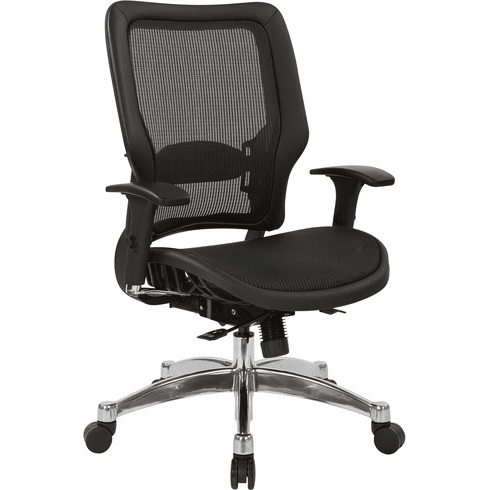 Exceptionnel Office Star Space Seating® Black Vertical Mesh Back Chair [63 T117C63C]