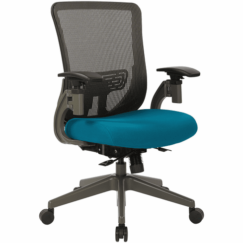Office Star Space Seating® Grey Vertical Mesh Back Chair [657-7TG1N4421G]
