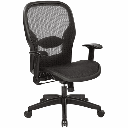 Magnificent Office Star Space Seating Managers Chair Air Grid Back And Seat 23 77N1F2 Theyellowbook Wood Chair Design Ideas Theyellowbookinfo