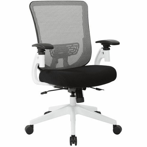 Office Star Space Seating® White Vertical Mesh Back Chair [657 3TW1N1421W]