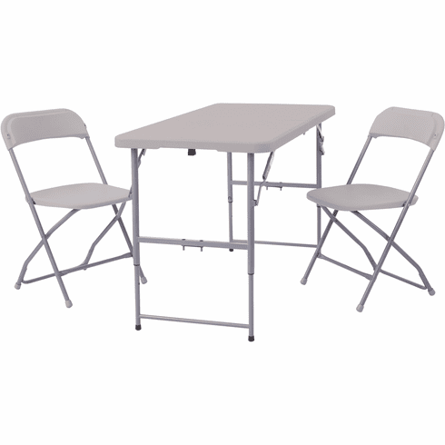 Office Star Work Smart™ 3-Piece Folding Set 2 Chairs & Table [QT7302-03]