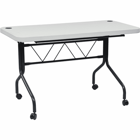 Office Star Work Smart™ 4' Resin Multi Purpose Flip Table, Locking Casters [FT6634]