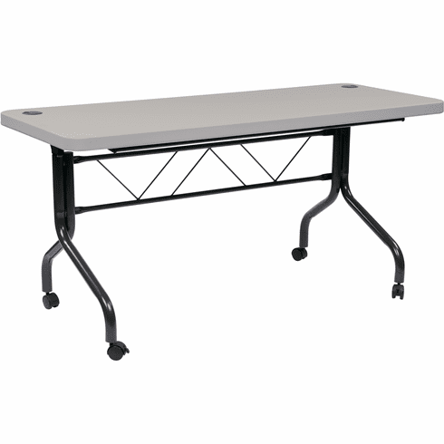 31d509eb913 Work Smart 5  Resin Multi Purpose Flip Table with Locking Casters