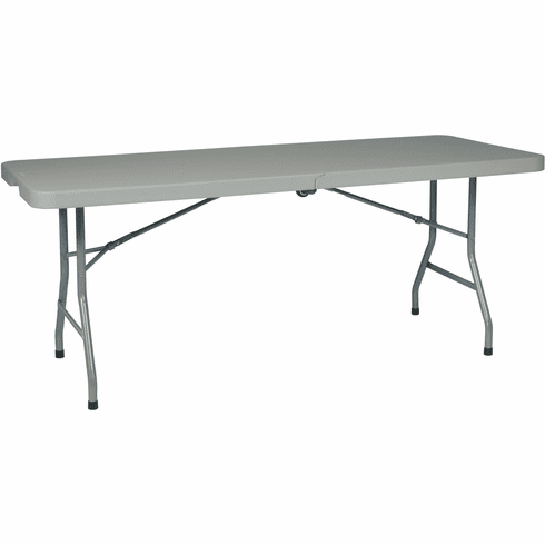 Office Star Work Smart™ 6' Resin Center Fold Table with Wheels [BT6FQW]