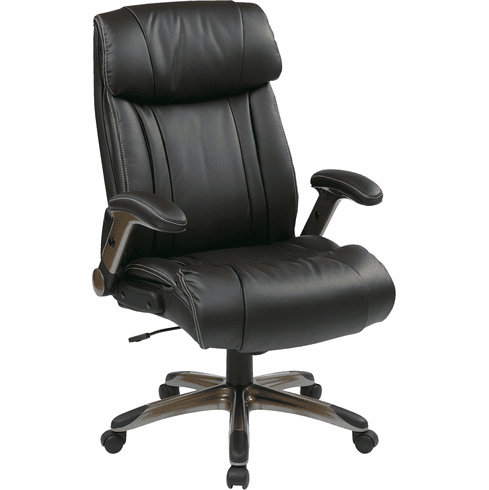 Office Star Work Smart™ Executive Bonded Leather Chair Espresso [ECH38615A-EC1]