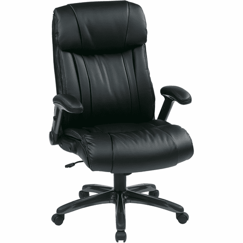 Office Star Work Smart™ Executive Chair Black Bonded Leather [ECH38675A-EC3]
