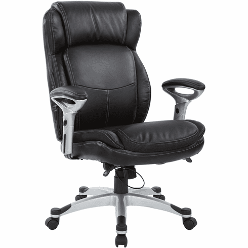 Office Star Work Smart™ Executive Chair Black Bonded Leather [ECH76506-EC3]