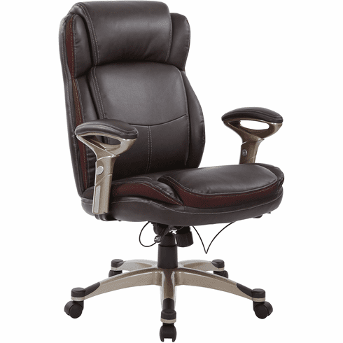 Office Star Work Smart™ Executive Chair Espresso Bonded Leather  [ECH76501 EC1]