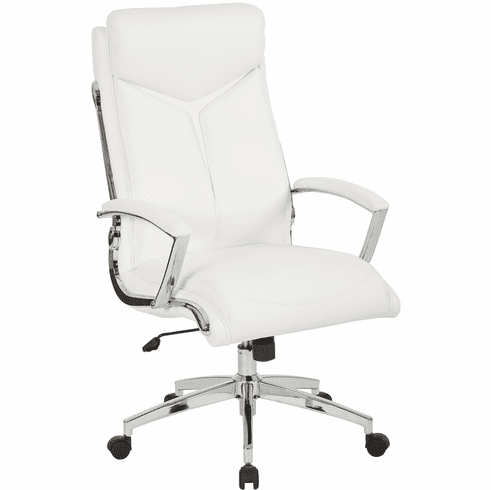 Office Star Work Smart™ Executive High Back Chair White Faux Leather [FL90071C-U11]