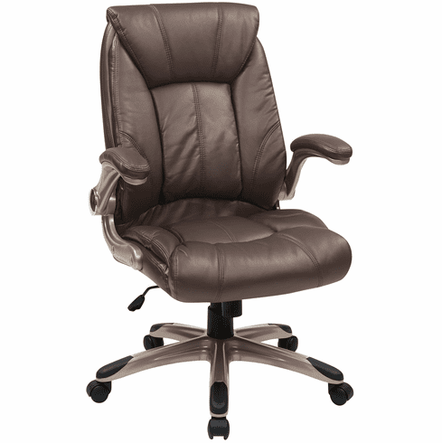 Brilliant Office Star Work Smart Faux Leather Mid Back Managers Chair Flh24981 U1 Spiritservingveterans Wood Chair Design Ideas Spiritservingveteransorg