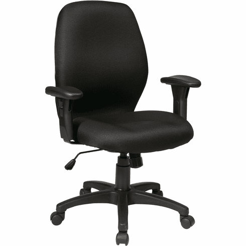 Office Star Work Smart™ Icon Black Synchro Chair [50321-231]