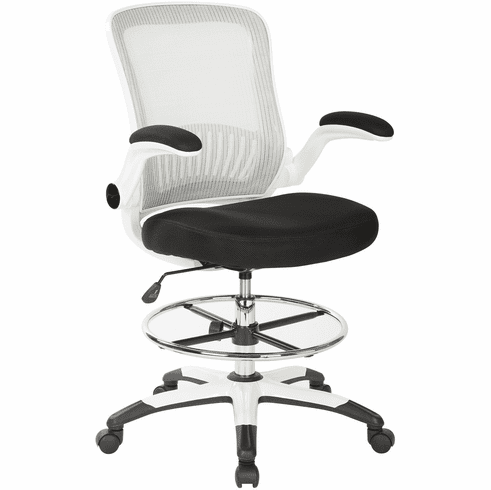 Office Star Work Smart™ Mesh Back Drafting Chair [DC6900WH-3M]