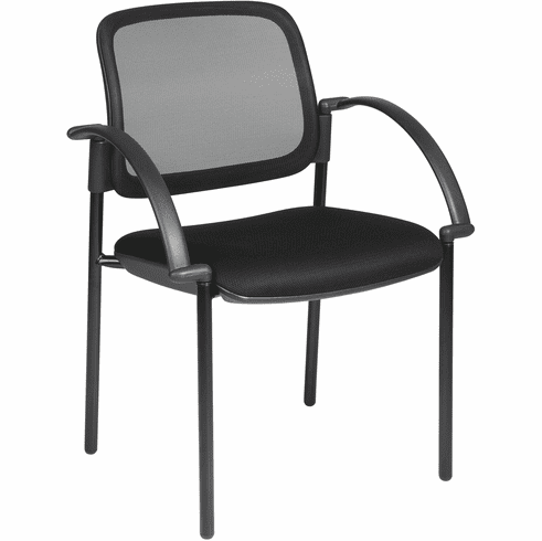Office Star Work Smart™ Mesh Seat Visitors Chair with Arms [183305]