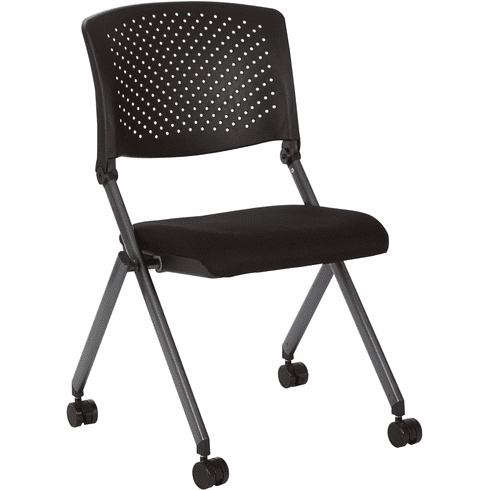 Office Star Work Smart™ Plastic Nesting Chair 2-Pack Titanium Frame [FC8427-231]