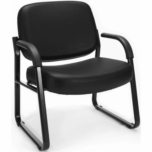 OFM Big and Tall Vinyl Guest Chair with Arms [407-VAM]