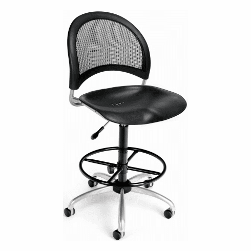 OFM Moon Mesh Back Drafting Chair [336-P-DK]