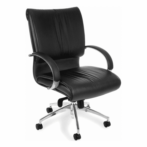 OFM Sharp Mid Back Leather Office Chair [511-L]