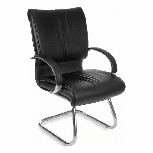 OFM Sharp Series Leather Guest Chair [515-L]