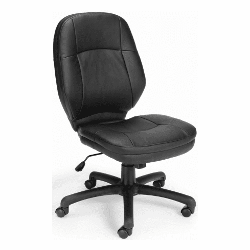 OFM Stimulus Faux Leather Armless Office Chair [521 LX]