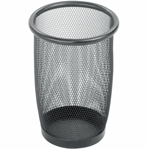 Onyx™ Mesh Trash Can Small Round Black Set of 3 [9716BL]