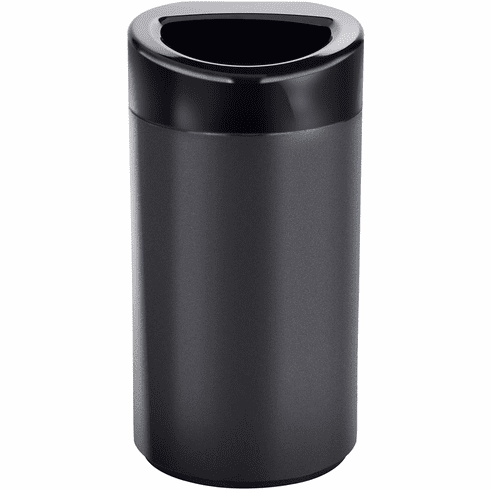 Open Top Trash Can 14 Gallon Black [9921BL]