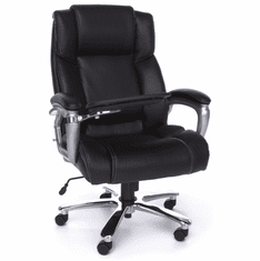 Oro 200 Leather Office Chair With Tablet Arm By Ofm Oro200