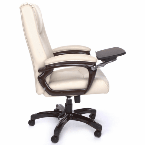 Cream Leather Office Chair Tall Computer Chair