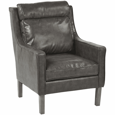 Brilliant Osp Accents Colson Arm Chair Pewter Bonded Leather Sb257 Bd26 Bralicious Painted Fabric Chair Ideas Braliciousco