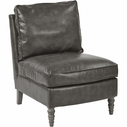 Tremendous Osp Accents Martin Accent Chair Pewter Bonded Leather Sb258 Bd26 Pdpeps Interior Chair Design Pdpepsorg
