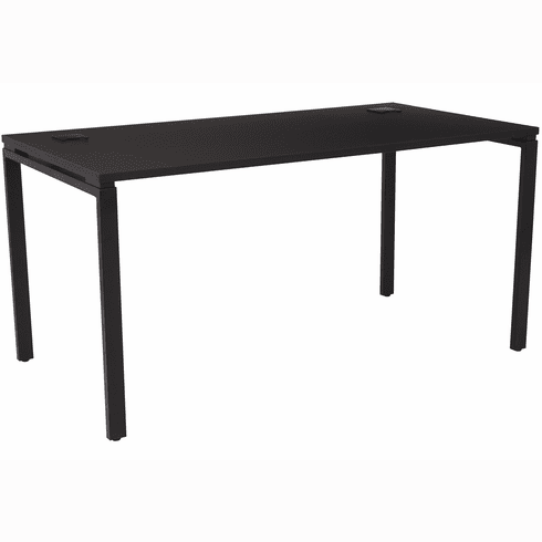 "OSP Designs 60"" Writing Desk with Black Top / Metal Legs [PRD3060D-BLK]"