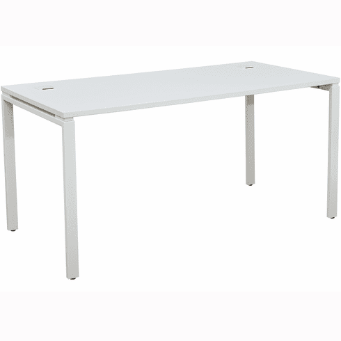 "OSP Designs 60"" Writing Desk with White Top / Metal Legs [PRD3060D-WH]"