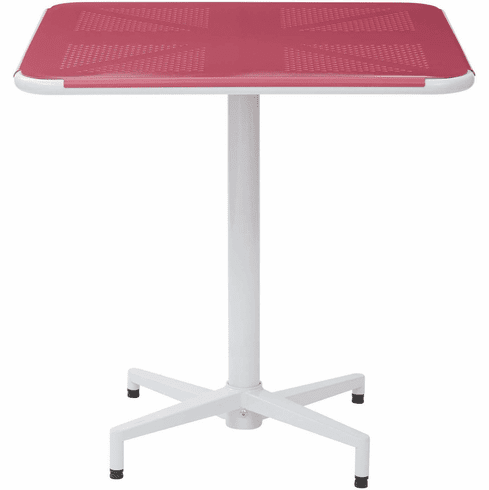"OSP Designs Albany 30"" Square Folding Table Pastel Pink [ALB43211-C216]"