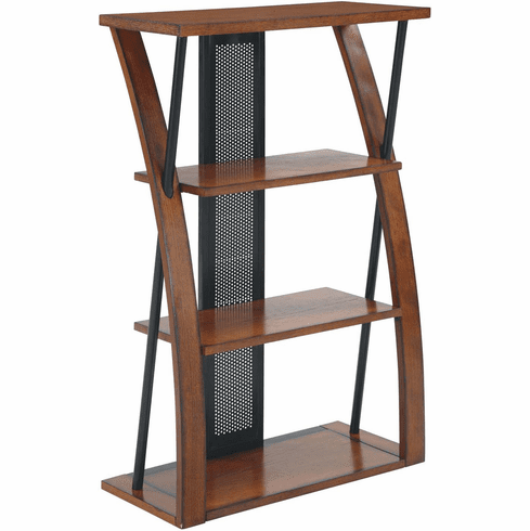 OSP Designs Aurora  Bookcase Powder-Coated Black Accents [AR27]