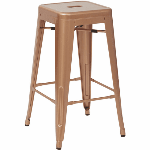 Office Star 26 Quot Antique Metal Stool Copper 4 Pack Office