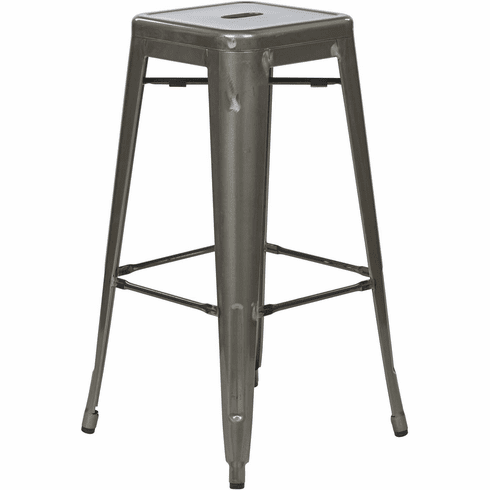 "OSP Designs Bristow 30"" Metal Barstool Gun Metal 4-Pack [BRW3030A4-GM]"