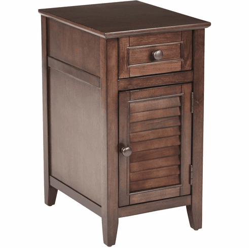 OSP Designs Brooke Chair Side Table Chestnut [BRK08AS-CH]