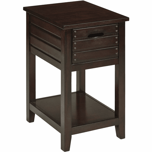 Osp Designs Camille Side Table In Walnut Cml08as Wa