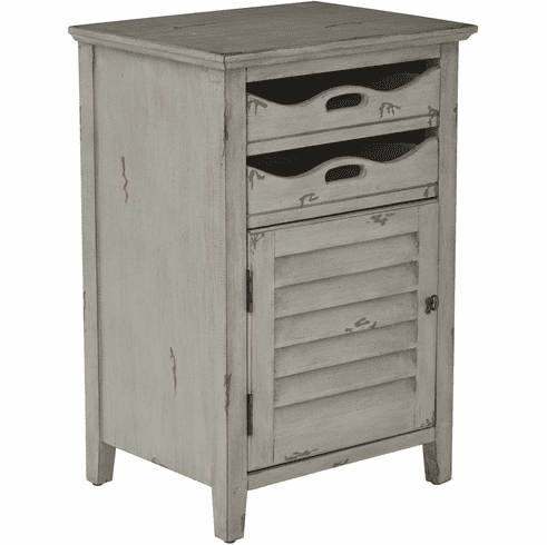 OSP Designs Charlotte Chair Side Table in Grey [CHR08AS-YM19]