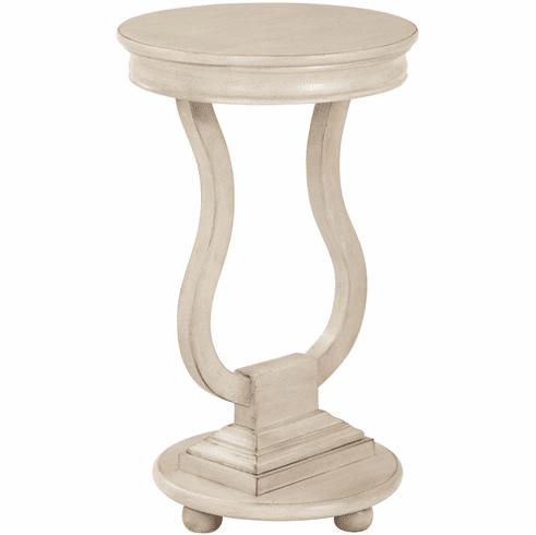 OSP Designs Chase Round Accent Table Antique White [OP-CHAS1-DH4]