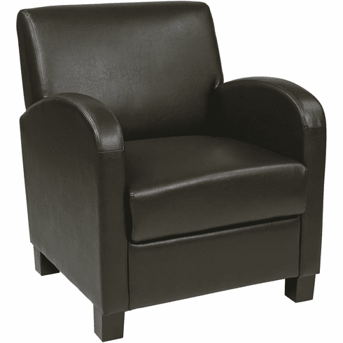 OSP Designs Club Chair Espresso Bonded Leather [MET807RES]