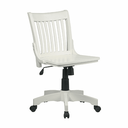 OSP Designs Deluxe Armless Wood Bankers Chair with Wood Seat [101]