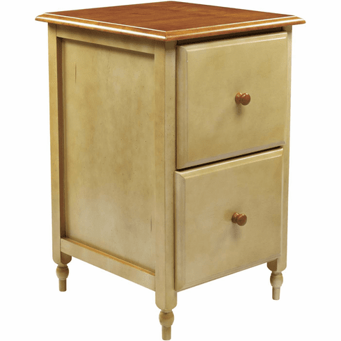 OSP Designs File Cabinet Country Cottage Buttermilk & Cherry [CC30]