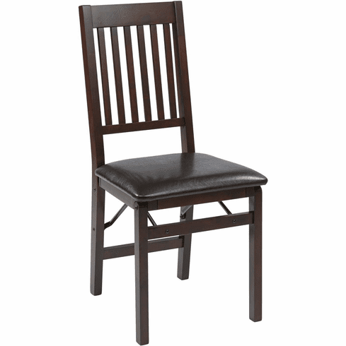 OSP Designs Hacienda Espresso Folding Chair 2-Pack [HA424-ES]