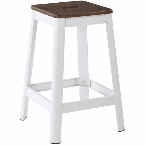 Magnificent Osp Designs Hammond 26 Metal Stool Darkwood Seat Frosted White Frame Hmm9426D C231 Creativecarmelina Interior Chair Design Creativecarmelinacom