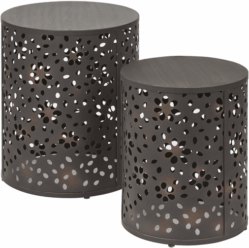 OSP Designs Middleton 2 Piece Set Round Accent Tables [MDT192-A]