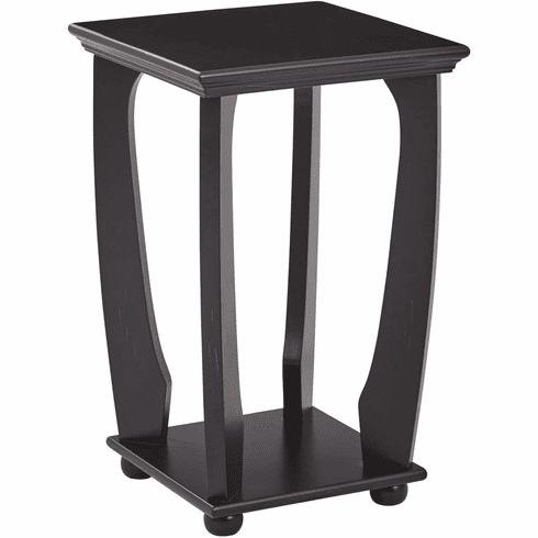 OSP Designs Mila Square Accent Table Brushed Black [OP-MLAS1-AC11]
