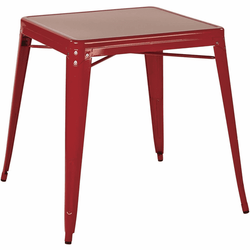 OSP Designs Paterson Metal Table in Red [PTR432-9]