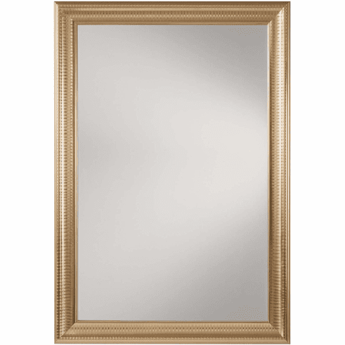 OSP Designs Savoy Rectangle Wall Mirror Regency Gold Frame [SH9363-GLD]