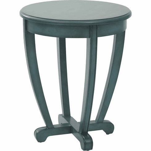 OSP Designs Tifton Round Accent Table Blue [TFN17AS-BL]